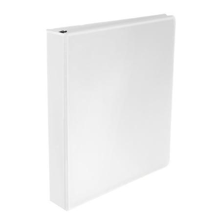 School Smart Polypropylene Round Ring Binder, 1-1/2 Inch, White](School Supplies On Sale)