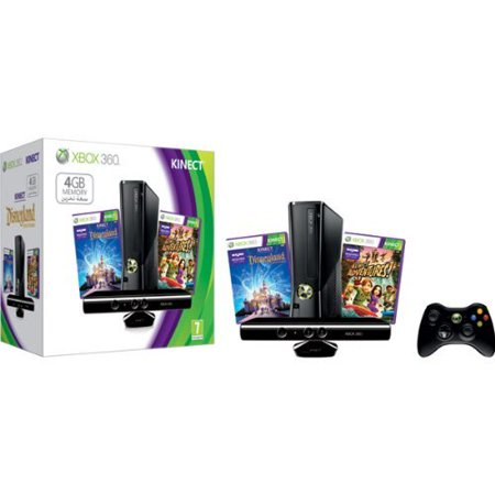 Refurbished Xbox 360 4GB Kinect Console Bundle With Kinect Disneyland Adventures And Kinect Adventures](xbox 360 slim black friday deals)