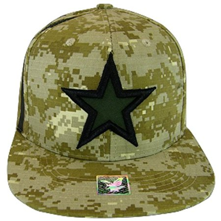Dallas Texas Star & Stripes Camouflage Cotton Adjustable Snapback Baseball Cap (Digital Camo) - Halloween Stores In Dallas Texas