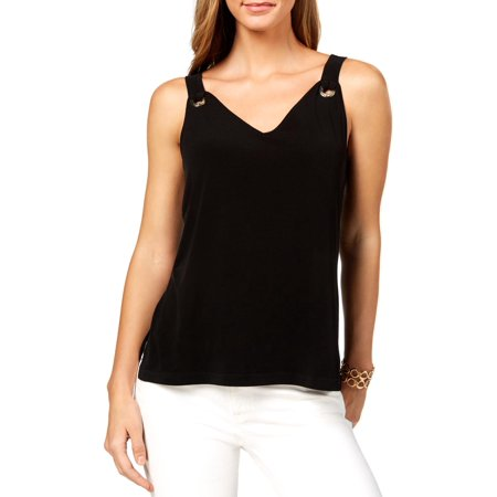 Nine West Mini - Nine West Womens V-Back Grommet Tank Top