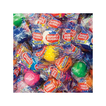 Branded Dubble Bubble Individually Wrapped Gumballs 850 count Pack of 1 [Qty Discount / wholesale - Double Bubble Gumballs