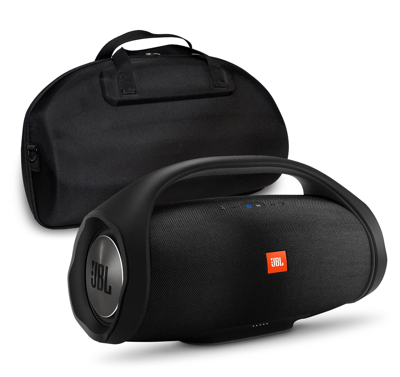 JBL Boombox Black Bluetooth Speaker & Fitted Hardshell Case by JBL