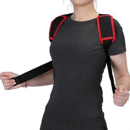 WALFRONT Élastique réglable posture support de correction du dos correction du support thoracique Bandoulière ceinture, correcteur de posture du dos, orthèse de maintien du dos - image 5 de 8