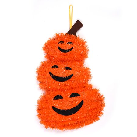 Halloween Hanging Tinsel Pumpkin Decoration by FLOMO - Halloween Tinsel