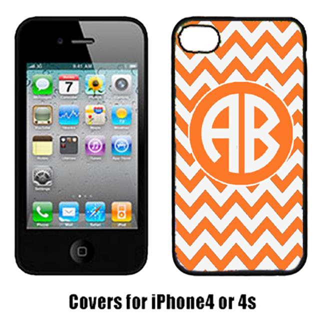 Carolines Treasures CJ1046-CUSTOM-IP4 Chevron Orange And White For Tennessee Cell Phone Cover Iphone 4