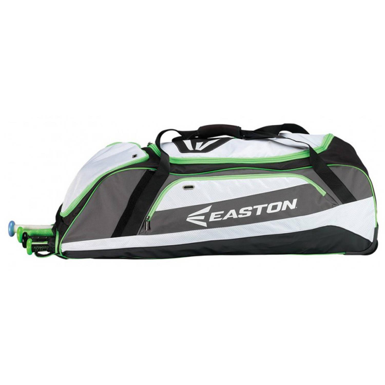 Easton E500W Wheeled Bag, Black/Torq Green