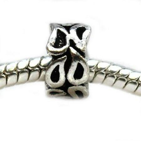Maple Leaf Bracelet (Leaf Spacer Charm European Bead Compatible for Most European Snake Chain Bracelet )