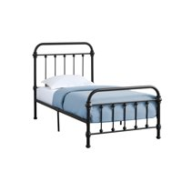 "80.50"" Black Contemporary Rectangular Bed Frame - Twin Size"