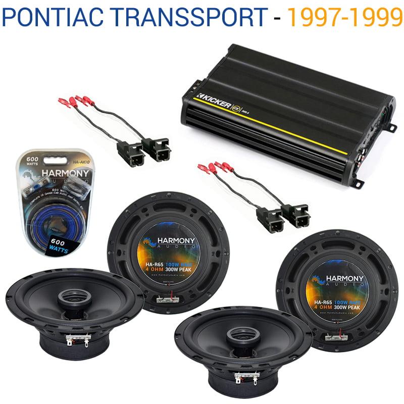 Pontiac TransSport 1997-1999 OEM Speaker Upgrade Harmony (2) R65 & CX300.4 Amp - Factory Certified Refurbished