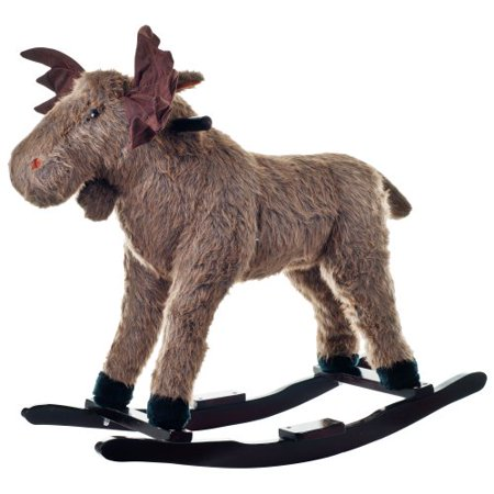 Happy Trails Max Moose Plush Rocking Ride-On