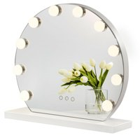 Costway Makeup Vanity Mirror with Light Hollywood Style Mirror, 3 Color Lighting Modes