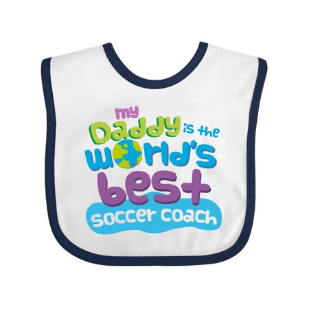 Soccer Coach Daddy (worlds best) Baby Bib