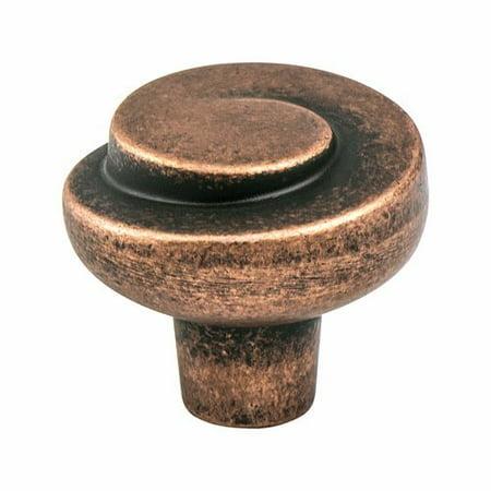 Berenson Sonata 1-3/16 Inch Diameter Rustic Copper Cabinet Knob 7129-1RC-C