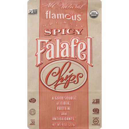 (Flamous Spicy Falafel Chips, 8 oz (Pack of 12))