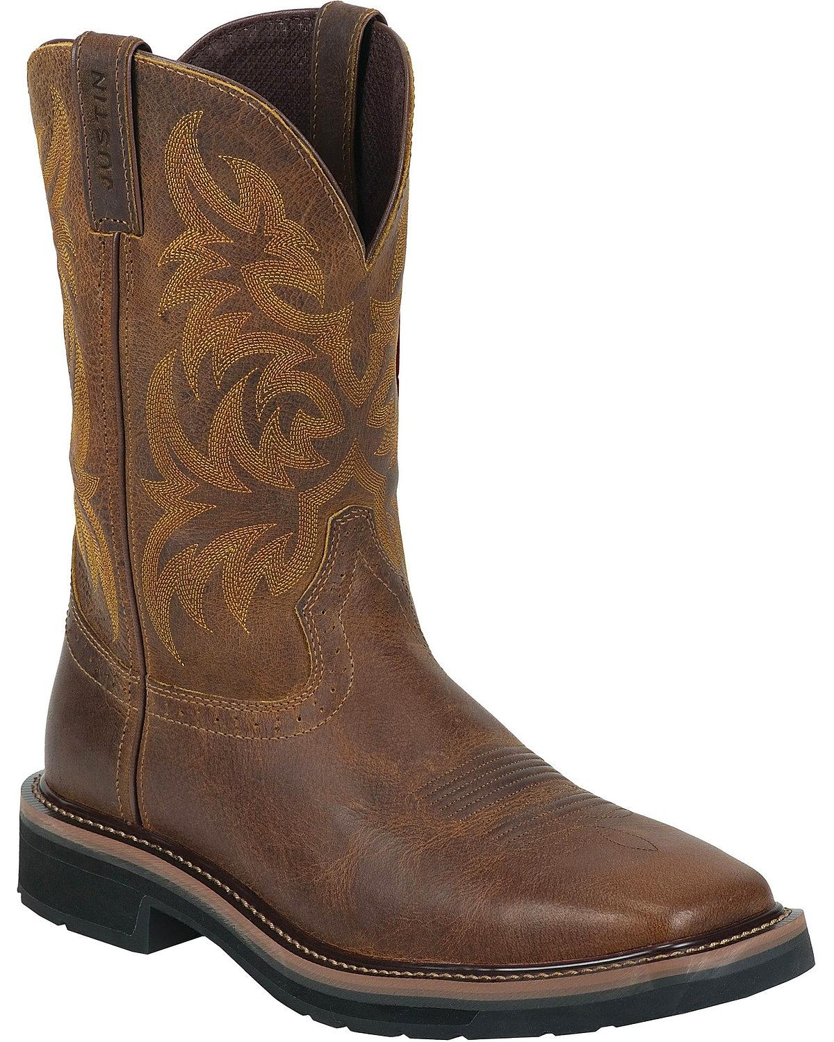 Justin Boots Justin Men S Tail Stampede Pull On Work