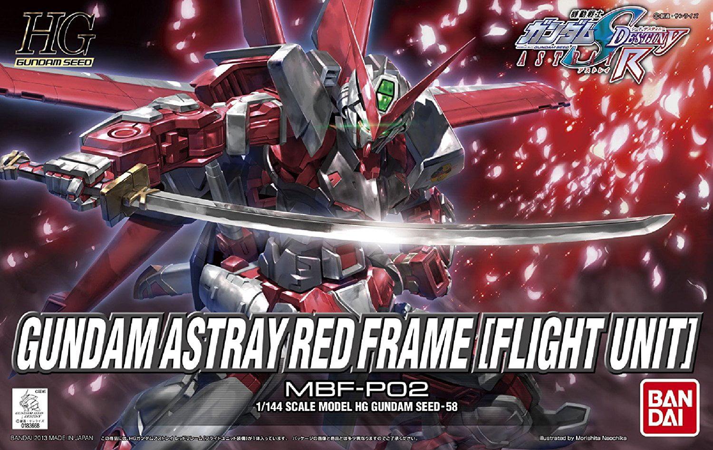 Bandai Hobby Gundam SEED #58 Astray Red Frame Flight Unit HG 1 144 Model Kit by Bandai Hobby