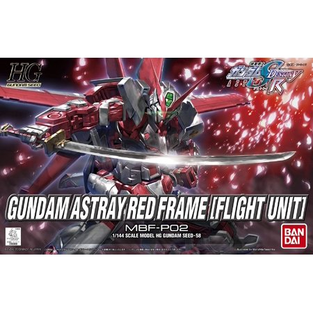 Flight Model Kit - Bandai Hobby Gundam SEED #58 Astray Red Frame Flight Unit HG 1/144 Model Kit
