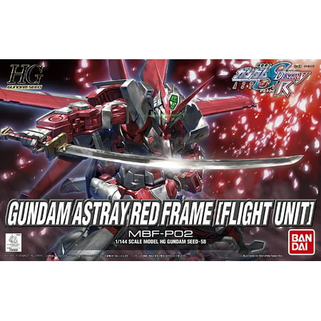 Bandai Hobby Gundam SEED #58 Astray Red Frame Flight Unit HG 1/144 Model Kit