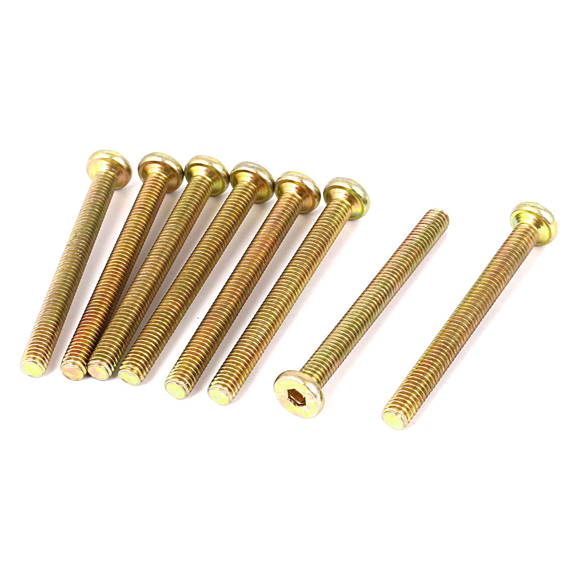 M6 x 60mm Hex Bolt Socket Head Cap Machine Screws Bronze Tone 8 Pcs