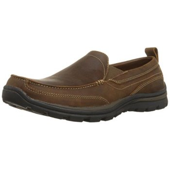 94ff72b5a8ab2a Skechers USA Men's Relaxed Fit Memory Foam Superior Gains Slip-On,10 M  US,Dark Brown