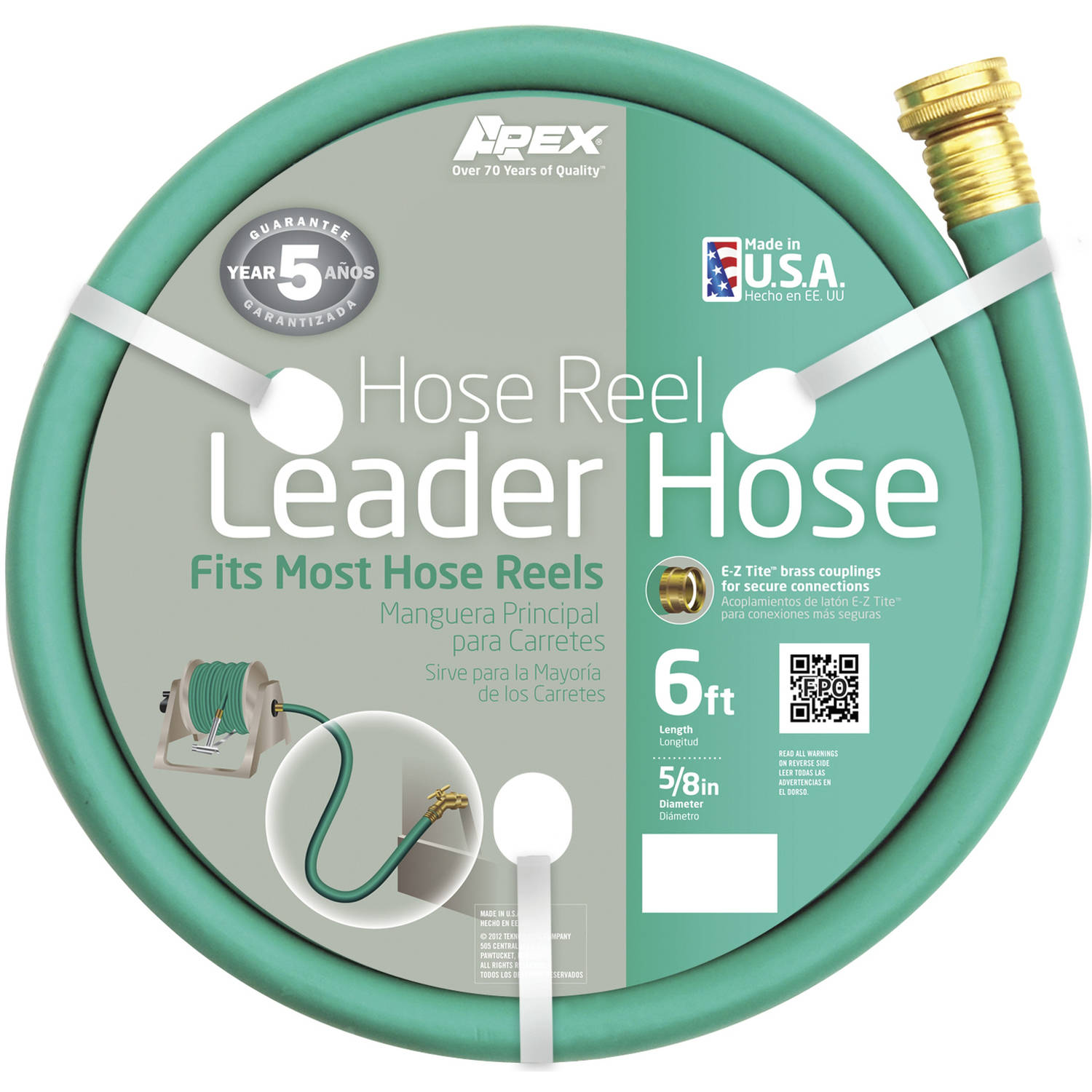 Apex 887-6 6' Hose Reel Leader Hose