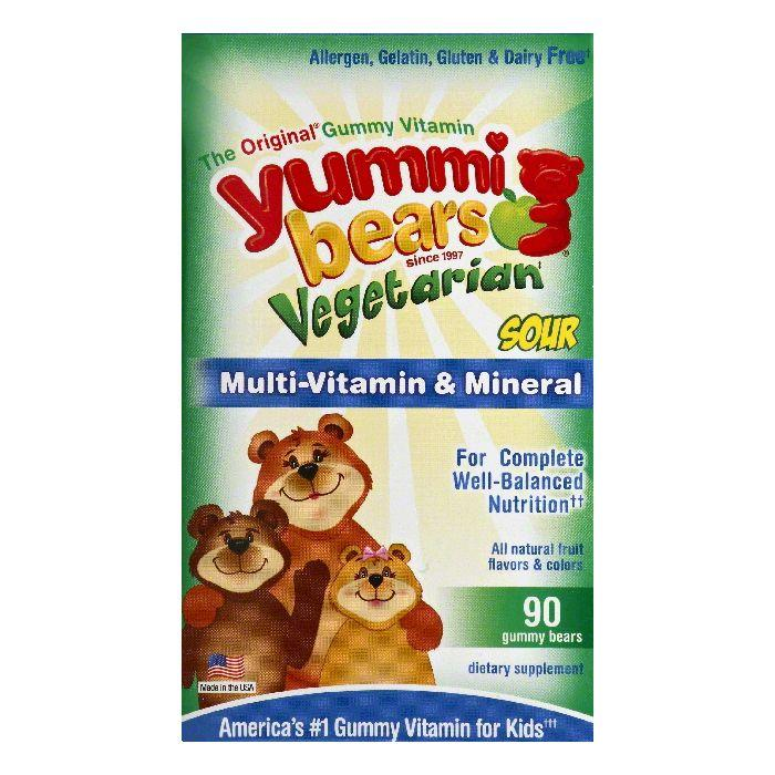 Yummi Bears Sour Gummy Bears Multi-Vitamin & Mineral, 90 ea by