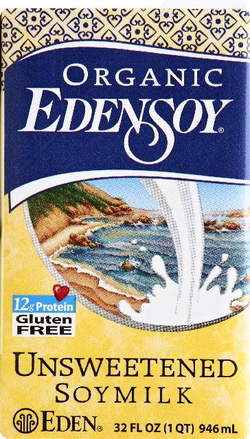 Eden Foods Organic Unsweetened Edensoy, 32 Oz by Eden Foods