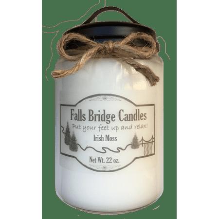 Irish Moss Scented Jar Candle, Large 22-Ounce Soy Blend, Falls Bridge