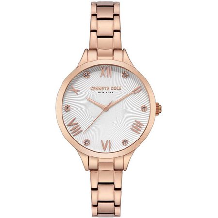 Women's Kenneth Cole Classic Rose Gold Crystallized Dial Watch KC50197002 Kenneth Cole Womens Strap Watch