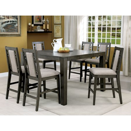 Furniture Of America Basson Rustic 7 Piece Grey Counter