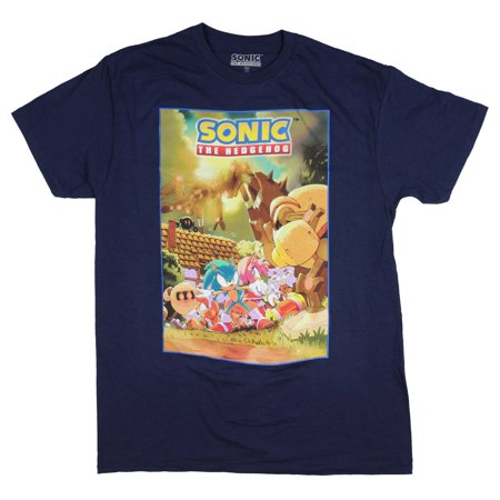 Amy Rose Sonic Boom (Sonic Hedgehog Shirt Costume Poster Men's Graphic Sonic Amy Rose Tails)