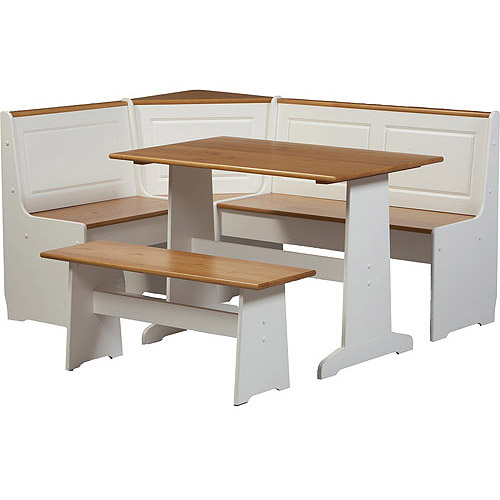 Ardmore 5-Piece Nook Set, White with Pine Accents