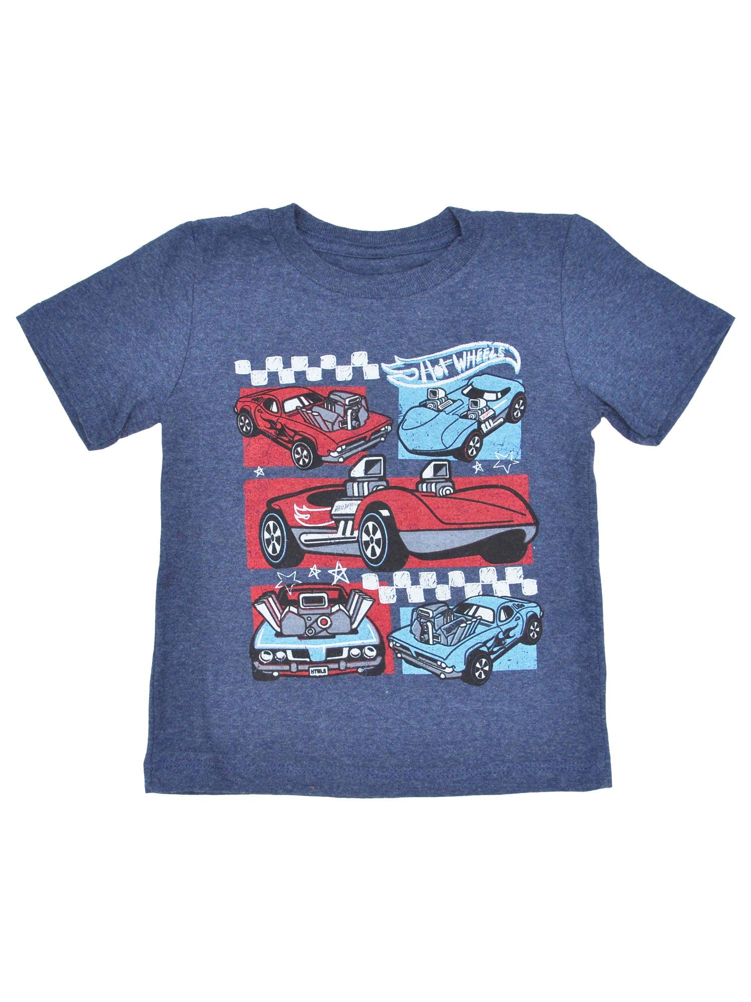 Toddler Boys Hot Wheels T-Shirt - Short Sleeve Blue