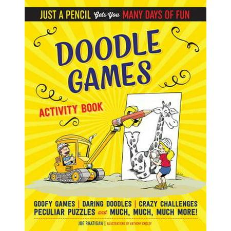 Doodle Games Activity Book - Halloween Day Activities
