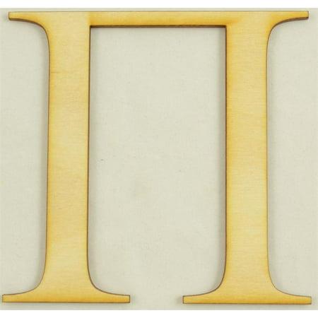 Pi Greek Letter - Pi Greek Letter Size:4 Inch Thickness:1/4