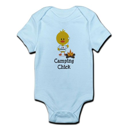 CafePress - Camping Chick Infant Bodysuit - Baby Light Bodysuit Chick Infant Bodysuit