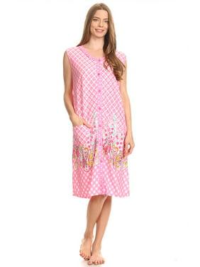b73b076461 Product Image 15026-1 Womens Capri Set Sleepwear Cotton Pajamas - Woman  Sleeveless Sleep Nightshirt Pink