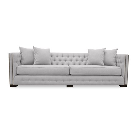 South Cone Home Carmel Linen Tufted Sofa