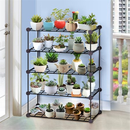 Generic 3/4/5 Layer Flower Pots Plant Stand Display Shelves Shelf Garden Planter Holder Rack ()
