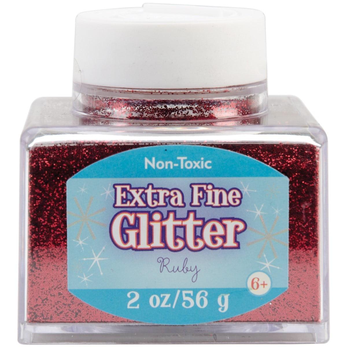 1-Pound Green Fine Glitter Bottle Christmas Color