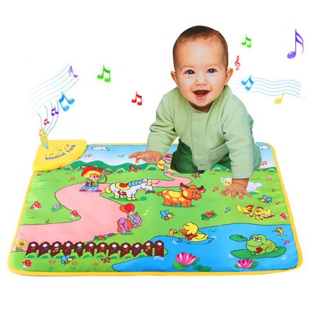 Farm Play Carpet - Music Mat Music Mat For Kids Music Mat For Kids Education Music Sound Farm Animal Touch Baby Play Singing Mat Baby Gym Carpet