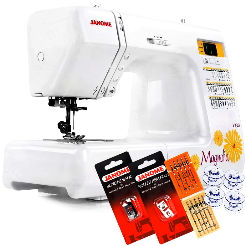 Janome 7330 Computerized Sewing Machine with Exclusive Bonus Bundle
