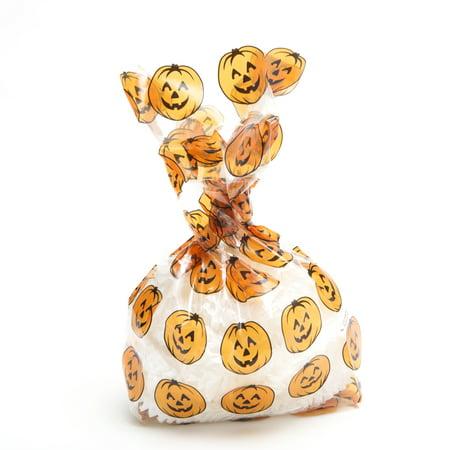 Pumpkin Print Cellophane Party Bags