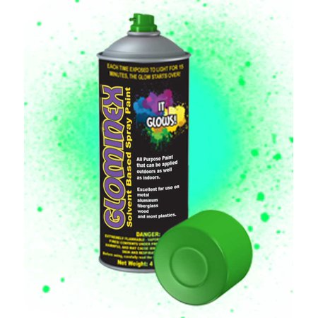 glominex glow spray paint 4oz green. Black Bedroom Furniture Sets. Home Design Ideas