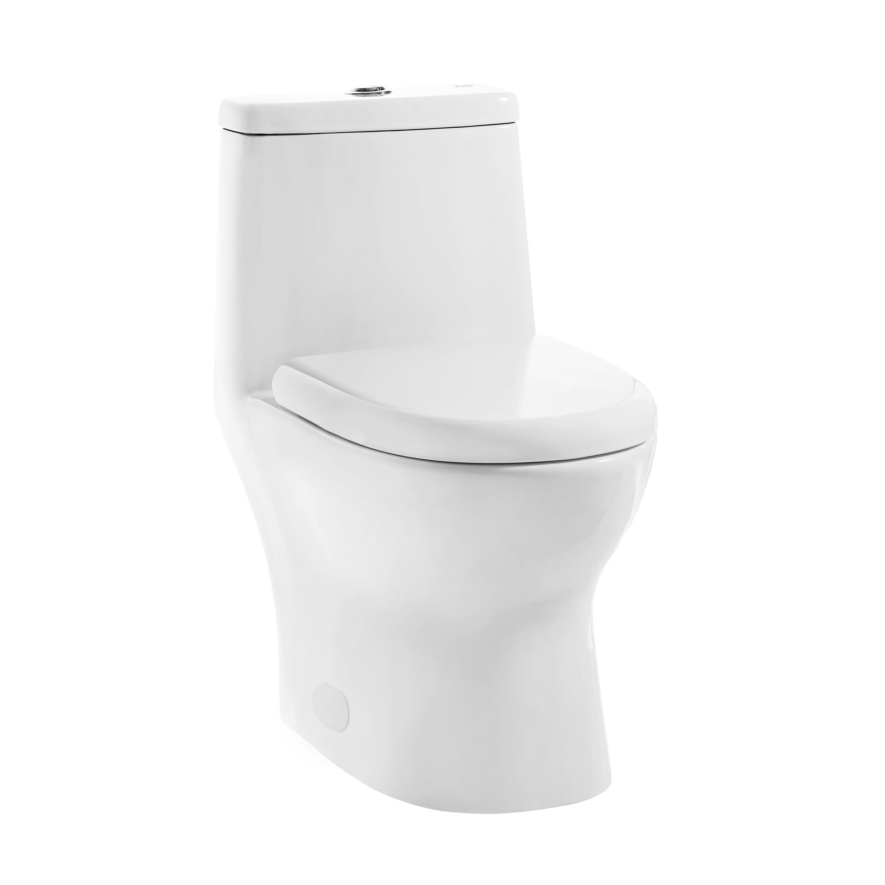 Swiss Dual Flush Ivy Madison Elongated One Piece Toilet