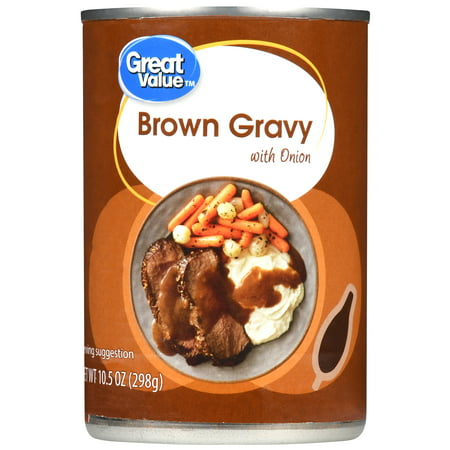 (3 Pack) Great Value Brown Gravy with Onion, 10.5 oz