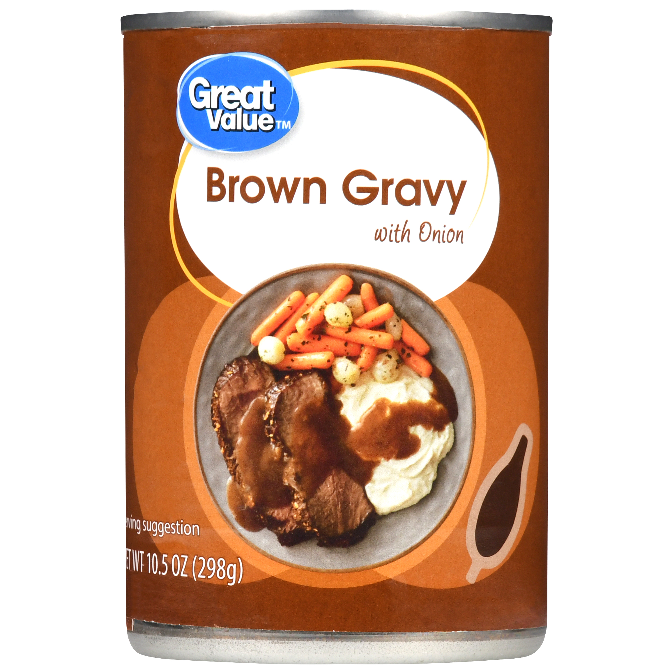Great Value Brown Gravy with Onion, 10.5 oz