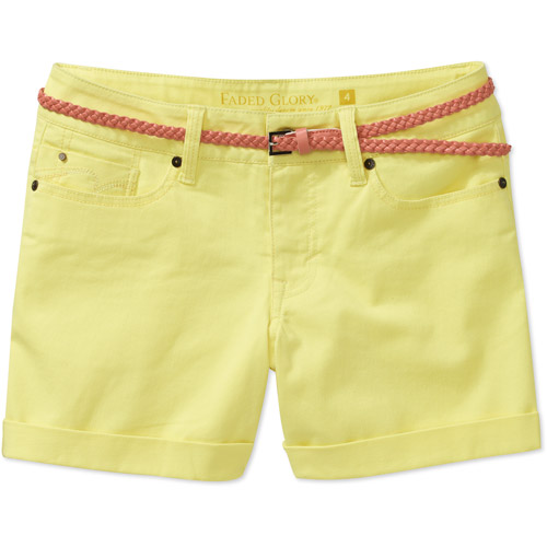 """Faded Glory Women's Belted Twill 4.5"""" Shorts"""