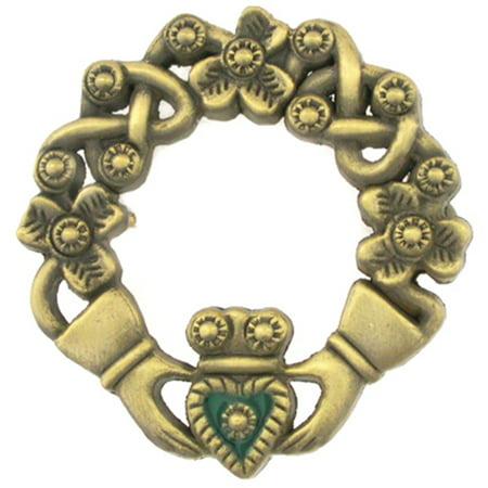 Claddagh Pen (Antique Bronze Irish Claddagh Brooch Lapel Pin )