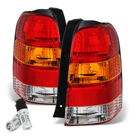 VIPMOTOZ Red Lens OE-Style Tail Light Lamp Assembly For 2001-2007 Ford Escape